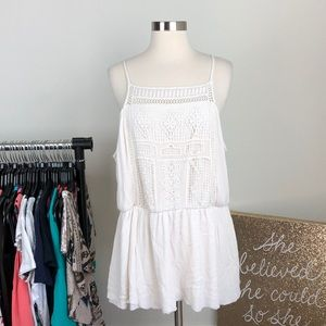 Mossimo Supply Co white embroidered tunic top